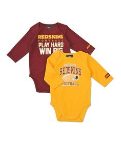 Take a look at this Washington Redskins Long-Sleeve Bodysuit Set - Infant by NFL on #zulily today!
