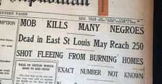 The 1917 East St. Louis Race Riots. How can we learn from the past so that history is not repeated in the future? Mob violence only leads to destructive actions. The white manufacturer owners wanted to break the white union workers who were on strike so the business owners hired black workers who would work for lower wages.This caused a friction between black and white workers.