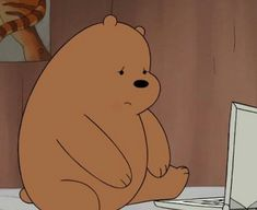 Why does that make mama bear 😔? Mood Wallpaper, Bear Wallpaper, Disney Wallpaper, Wallpaper Backgrounds, Iphone Wallpaper, Bear Cartoon, Cartoon Icons, Bear Meme, We Bare Bears Wallpapers
