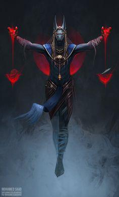 Egyptian Mythology, Egyptian Art, Egyptian Anubis, Tatoo Anubis, Anubis And Horus, Egypt Concept Art, Bastet, Arte Assassins Creed, Egyptian Tattoo Sleeve