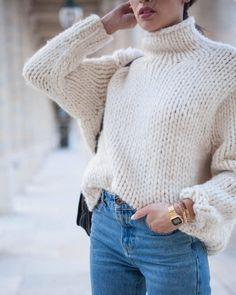 The Perfect Chunky Turtleneck Sweater (Le Fashion) - Fashion Trends Street Style Outfits, Mode Outfits, Jean Outfits, School Outfits, Looks Style, Looks Cool, Fall Winter Outfits, Autumn Winter Fashion, Spring Outfits