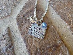 Love Little Legs Doxie Dachshund Dog Necklace by Crafting4Cause- Want!
