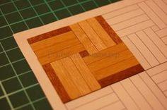 how to: miniature parquet floor