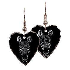 Zebra Earring Heart