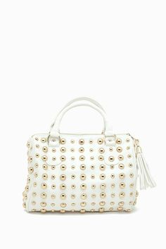 All Over Gold Circle Studded Satchel