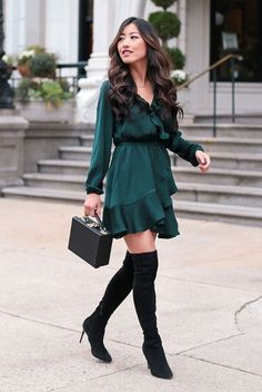 9bb48aa55d8e 49 Best Casual Christmas Outfits images | Fall fashion, Dress skirt ...