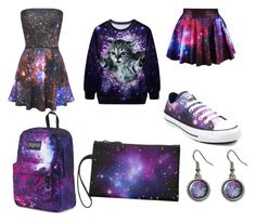 """""""OUT OF THIS WORLD STUFF"""" by sarahbchall ❤ liked on Polyvore featuring Converse and JanSport"""