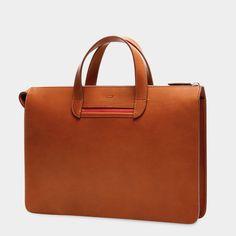 Vallance Slim Leather Briefcase – Carl Friedrik Classic Man 8795b7fa03b6e