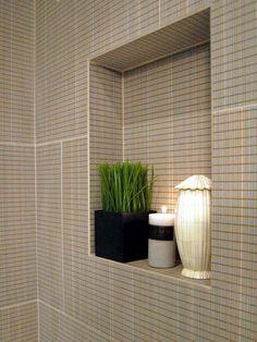 Large Tile Shower with Window into Bedroom Designers Portfolio