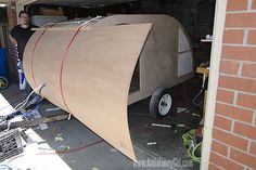 02 teardrop trailer wood skin curve