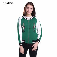 Women Korean BirdsBee Appliques Jacket Fashion Two-Tone Colored Crop Jacket Knitted Coat High Quality Cardigan