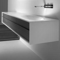 Falper Shape Oak Bathroom Cabinet And Basin