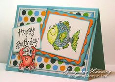 Fishy Friend Teal by paperprincess1973 - Cards and Paper Crafts at Splitcoaststampers