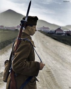 Hungarian soldier in Carpathians.