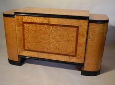 Flame birch Sideboard D209 http://www.virtanen-antiques.com/art-deco-furniture/flame-birch-sideboard-d209