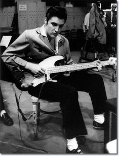Elvis and the bass.