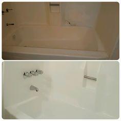 Yes, bathtub reglazing works on fiberglass too! Restore that worn ...