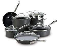 Emeril by All-Clad E871SC64 Hard Anodized Nonstick Scratch Resistant Cookware Set, 12-Piece, Black >>> To view further for this item, visit the image link.