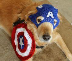 #TEAMCAP Dog Costume Super Hero Dog Costume Dog Cosplay by AegeanDrawn