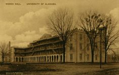 Following the destruction of the University of Alabama campus during the American Civil War, a new Quad emerged in the late 19th and early 20th centuries The first building to be built on the campus was Woods Hall, completed in 1868