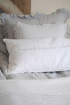 ruffles, linen, crisp cotton, pillows