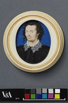 Portrait miniature of an unknown young man | Hilliard, Nicholas | 1588, England.
