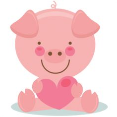 Cute Valentine Pig  scrapbook cuts SVG cutting files doodle cut files for scrapbooking clip art clipart doodle cut files for cricut free svg cuts