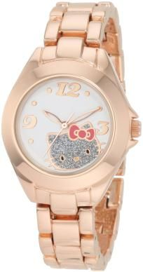 Hello Kitty by Kimora Lee Simmons Women's Rose Alloy Case And Glitter Face Watch W/ 10 PHOTON$