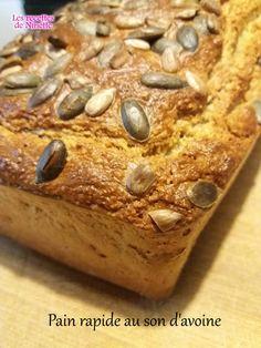 pain rapide au son d'avoine ww Voici un pain délicieux préparé et cuit en 30 mn chrono ! Ce pain est rassasiant et très diététique, 2 tranches au petit déjeuner vous aideront à tenir jusqu'à midi sans fringale . Pour les allergiques au gluten, vous pouvez...