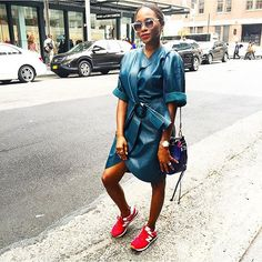 No ruffling of this leather. ❤️ this dress. Street Style Women, Lisa, Shirt Dress, Instagram Posts, Leather, Shirts, Dresses, Fashion, Vestidos
