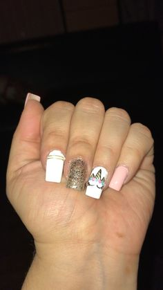 Deer Nails, Aycrlic Nails, Nude Nails, Pretty Nail Designs, Nail Art Designs, Unicorn Nails, Nail Games, All Things Beauty, Pretty Nails