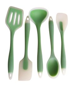 This is a really beautiful solid silicone utensil set.  Absolutely essential.