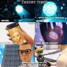 """Miraculous: Ladybug and Chat Noir.... I figured this out like the tenth Episode... I was like """"Omg... I bet it the dad... It's so the dad!"""""""