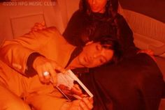 Rare Prince pic 2004, I believe Manuela was stroking him while he had his head in her lap.