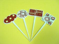 Palillos Botaneros diferentes formas e impresiones.