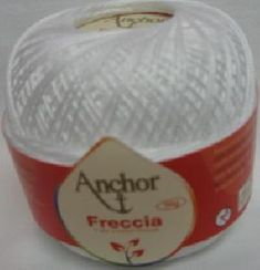 Anchor Freccia 7901 White Size 5 Crochet Thread 100% Mercerized Cotton Darning, Thread Crochet, Drink Sleeves, Anchor, Size 10, Lace, Cotton, Crochet Yarn, Anchor Bolt
