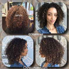 Christina Santini AKA Santini Houdini's new haircut & highlights by Shai Amiel. proper coloring should not damage your curl pattern. www.ShaiAmiel.com