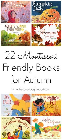 22 Montessori friendly children's books for Autumn Toddler Books Montessori Books, Montessori Preschool, Montessori Education, Preschool Books, Kids Education, Preschool Activities, French Education, Montessori Elementary, Fall Preschool
