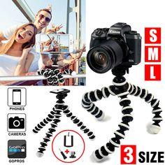 Blue Panasonic Camera DSLR SLR Flexible Tripod Gorilla Octopus Stand Holder 1//4