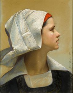 Louise Marie Becq de Fouquières (1824 - 1891), A Young Breton Woman from Fouesnant, 1869.