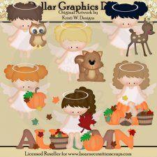 Autumn Woodland Angels - Clip Art - *DGD Exclusive*
