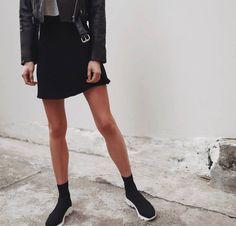 These just in 👆🏻 @pepamack wears our #wilsonsneaker in black vortex. #socksneaker x #tonybianco #Instagram