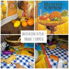 An Invitation to play with the story Handa's Surprise by Eileen Browne
