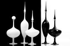 Blown Glass Vases - Cliff Young Furniture