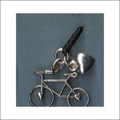 bicycle iphone dust plug charm earjack charm cell by icasecouture, $7.99