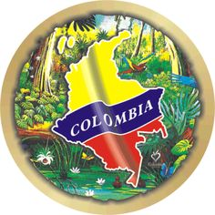 Mapa de Colombia Colombian Coffee, Koh Tao, Countries, Decoupage, Blessed, Diy, Maps, Viajes, Colombian Flag