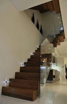 Queens Gardens - Staircase with glass balustrade - modern - staircase - london -. - Queens Gardens – Staircase with glass balustrade – modern – staircase – london – Elite Me - Escalier Design, Plafond Design, Luxury Staircase, Staircase Design, Staircase Ideas, Railing Design, Interior Stairs, Interior Architecture, Interior Design