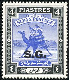 Sudan  1946 Scott O19 4p black & ultramarine Regular Issue of 1927-40 Overprinted in Black
