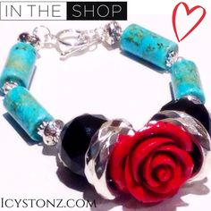 •New In The Shop• #Turquoise #Womens #Bracelet Buy the #MustHave items while supplies last. Designed by #ICYstonz