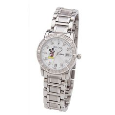 Disney Wrist Watch for Women - Mickey Mouse - Diamond Bulova Sale! Up to 75% OFF! Shop at Stylizio for women's and men's designer handbags, luxury sunglasses, watches, jewelry, purses, wallets, clothes, underwear